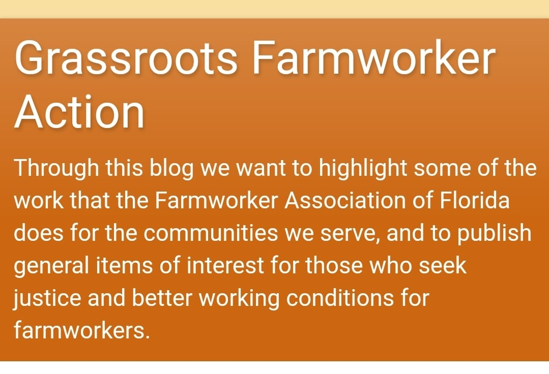 Grassroots farmworker action blog