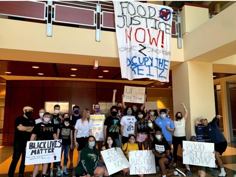 UF stidents demand food justice